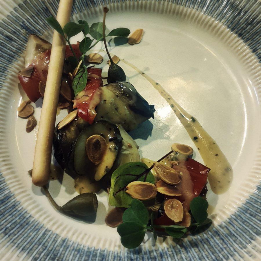 artichoke and aubergine salad